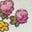 Naturweiß/Rosarot, Blumenmuster