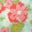 Pastellblau, Vintage-Blumen