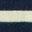 Bleu marine/poignets arc-en-ciel ivoire