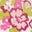 Naturweiß/Magenta, Vintage-Blumen