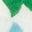 Flèche pétale bleu corse