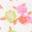 Festivalrosa, Vintage-Blumenmuster