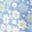 Arc-en-ciel de pâquerettes bleu murmure