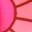 Motif floral années soixante rose camélia