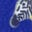 Bright Blue Geo Zebra