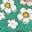 Sardiniengrün, Vintage-Gänseblümchen