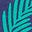 Segelblau, Festliches Blumenmuster
