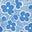 Himmelblau, Blumenmuster