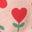 Motif Heart Flower rose boto