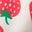 Weiß/Smaragdgrün, Erdbeeren