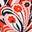 Motif Sunkissed Floral orange crépuscule