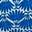 Bleu audacieux, palmier déco