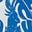 Bleu audacieux, motif Galah