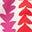 Naturweiß/Knalliges Stiefmütterchen, Blütenblattpfeile