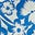 Bleu audacieux, motif Tropical Bloom mono