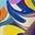 Wellenblau, Gemaltes Paisleymuster