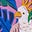Lupin, motif Parakeet Palm