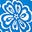 Bold Blue, Floral Delight