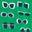 Sattes Smaragdgrün, Brillenmuster