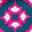 Bleu sarcelle éclatant, motif Diamond Drop