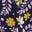 Navy/Weidenröschen, Blumenmuster