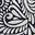 Bleu marine, motif Fern Swirl