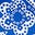 Kräftiges Blau, Getupftes Paisley-Muster
