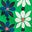 Sattes Smaragdgrün, Frangipani-Muster