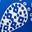 Royalblau, Getupftes Paisley-Muster