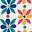 Naturweiß, Frangipani-Muster