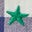 Navy/Ivory Rainbow Star