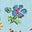 Blau, Patchwork-Blumen