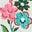 Ivory Floral/Pink Spot