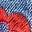 Mittleres Vintageblau, Denim/Blumenmuster