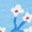 Blue Bunny/ Coral Stripe