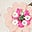 Ecru, Blumenmuster