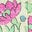 Bunt, Vintage-Blumenbeet