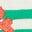 Pâquerettes vert printemps/ivoire