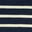 Ivory/ Navy Rainbow Cuff