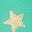 Light Green Gold Foil Star