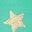 Étoile dorée métallisée vert pâle