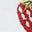 Weiß, Gestickte Erdbeeren