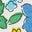 Glaces et petites fleurs multi