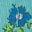 Frost Blue Patchwork Floral