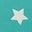 Brook Blue Confetti Star