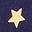 Étoile doré bleu tribord
