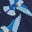 Navy Blue Exotic Bird