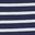 Rayé bleu marine/ivoire