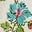 Bunt, Patchwork-Blumenmuster
