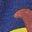 Dinosaure boîte de peinture bleu tribord